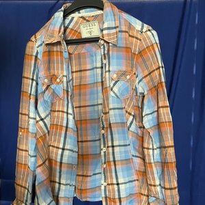 Guess Flannel Shirt Womens